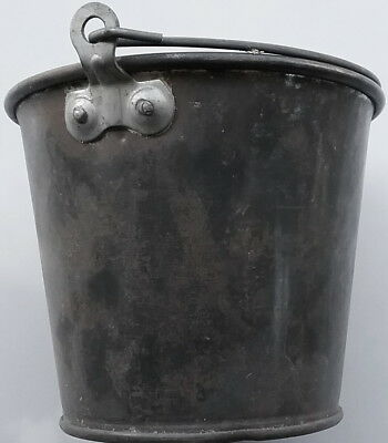 """Antique Galvanized Berry Pail with Bail approximately 5"""" X 6"""""""