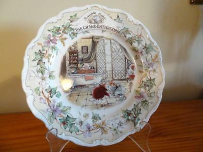 Royal Doulton Brambly Hedge The Grand Bathroom Plate As New