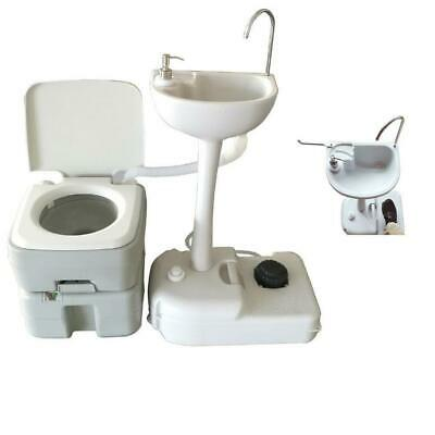 Outdoor Camping Hiking 20L Portable Toilet Flush Potty Commode with Wash Basin