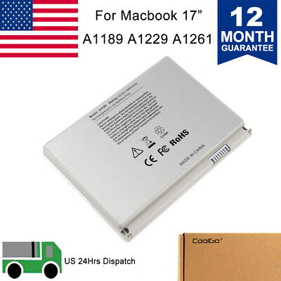 Battery Replace for Apple MacBook Pro 17inch A1189 A1151 A1212 A1261 A1229 MA458