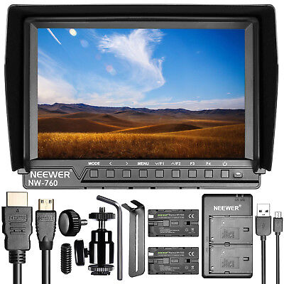 "Neewer NW-759 7"" IPS Screen 1080P 4K HDMI Field Monitor with Battery and Cahrger"