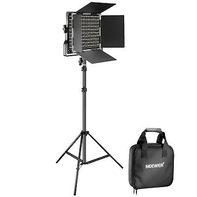 Neewer Dimmable Bi-color 660 LED Video Light (with Barndoor) and Light Stand Kit