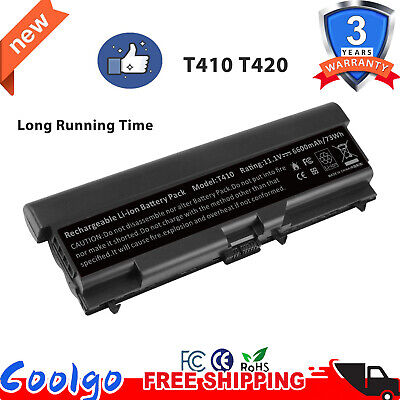 6/9Cell Battery for Lenovo Thinkpad T410 T420 T510 T520 SL410 SL510 W510 W520