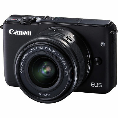 Canon EOS M10 Mirrorless Digital Camera with 15-45mm Lens Black UU