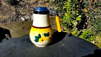 Vernon Kilns Brown Eyed Susan Syrup HONEY PITCHER Made in U.S.A. 1946 - 1958