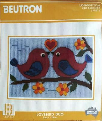 Love Birds Duo Beutron Long Stitch Kit Longstitch Suit Child Or Beginner