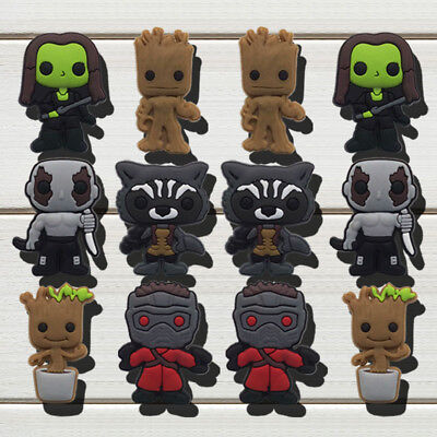 Mixed 50PCS Guardians of The Galaxy Shoe Charms Shoe Accessories Kids Xmas Gift