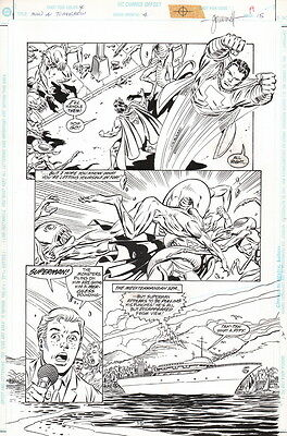 1996 Tom Grummett Signed Original Superman Man of Tomorrow #4 Art Page w/ SHAZAM
