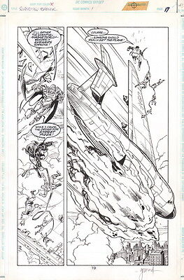 Tom Grummett Signed Original Superman Forever #1 Art Splash Page Superboy Steel