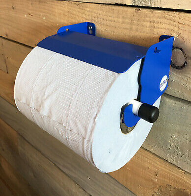 Van Mountable Blue Towel Roll Hanging Holder Dispenser With Stop Brake