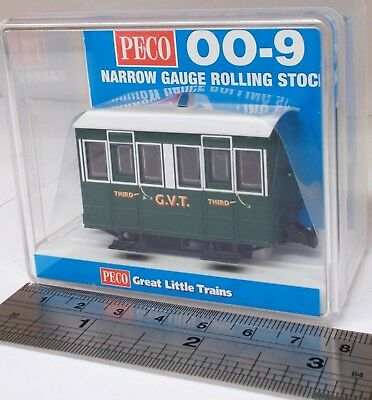 Peco GR-500 - Glyn Valley Tramway, 4-Wheel Enclosed Side Coach - New. (009)