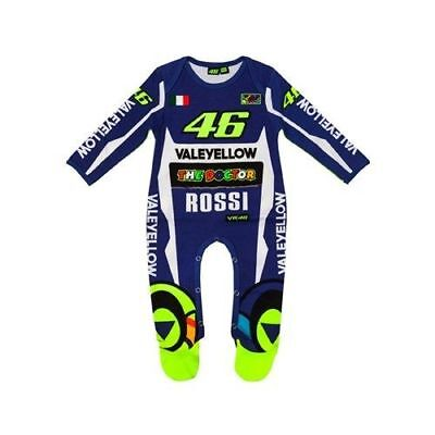 VR46 Moto GP Official Valentino Rossi Yamaha Replica Baby Grow Overall Suit