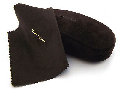 TOM FORD -  Glasses Case + Cloth or Small Sunglasses Case + Cloth Brown