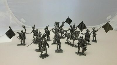 Diorama Great Army of Napoleon Flag Presentation Metal figurine Soldier 1/32