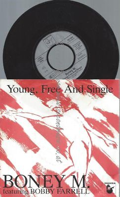 "7""   Boney M.  ‎– Young, Free And Single"