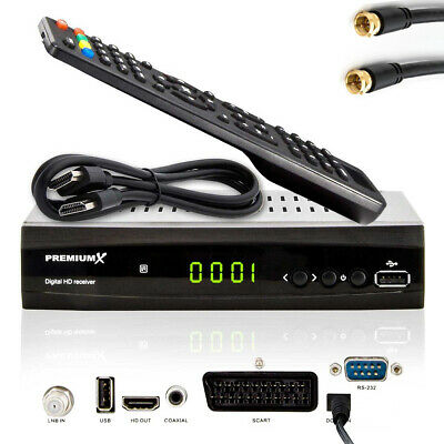 HDTV HD FULL Digital Sat TV Receiver PremiumX 500 FTA HDMI DVB-S2 1080p 2x USB