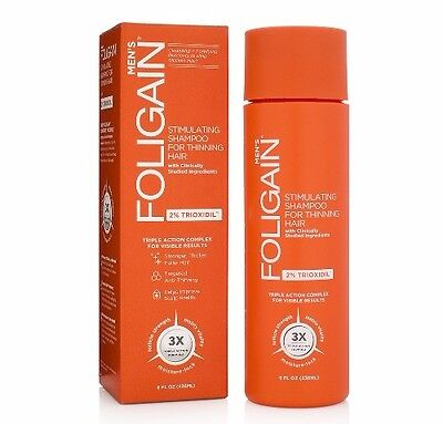 Men's Foligain Stimulating Shampoo for Men Thinning Hair