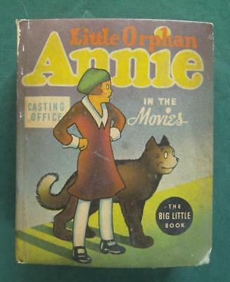 1937 Big Little Book Little Orphan Annie In The Movies #1416 Whitman Comic Book