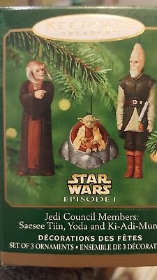 2000 Miniature Hallmark Star Wars Jedi Council Members Ornament NIB NEW IN BOX