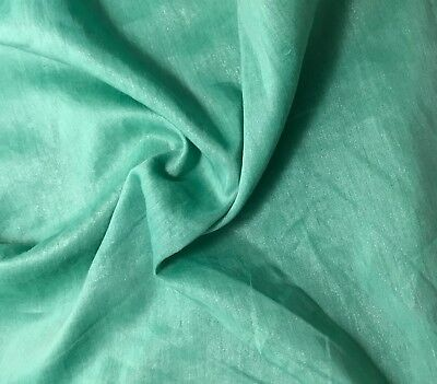"""Silk//Cotton Voile Batiste Fabric Hand Dyed PEAR GREEN 54/"""""""