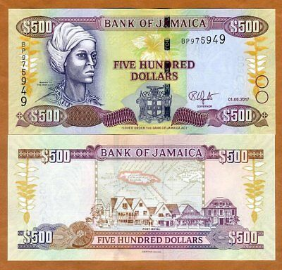 Jamaica, $500, 2017, P-85-New, UNC