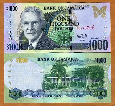 Jamaica, $1000, 2017, P-86-New, UNC