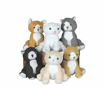 6 Plush CATS Stuffed Animal BABY SHOWER Kitten Birthday Party Favors