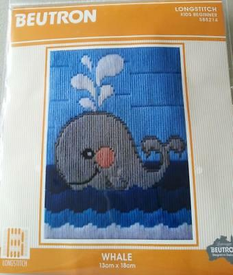 Whale Beutron Long Stitch Kit Longstitch Suit Beginner 13Cm X 18Cm