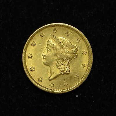 1853 T-1 $1.00 gold Liberty United States Coin (cn4516)