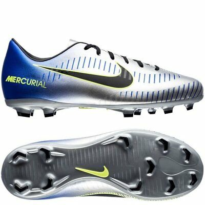 8e5f30289ce1 Nike Mercurial Victory VI FG Neymar NJR 2018 Soccer Shoes Silver Kids Youth