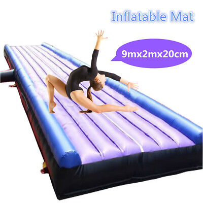 30ft 9M Inflatable Air Track Home Floor Tumbling gymnastics Tumble with end GYM