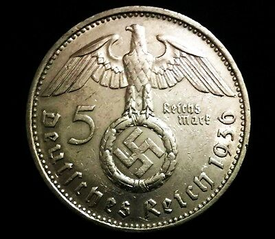 Rare WW2 German 5 Reichsmark SILVER Coin with EAGLE - Historical Artifact