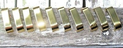 Lot of 10 Vintage Solid BRASS Cabinet Door Desk Drawer Handles Mid Century Mod