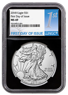 2018 American Silver Eagle NGC MS69 FDI Black Core Holder SKU51212