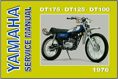yamaha workshop manual dt175 dt125 dt100 1976 service dt175c dt125c dt100c