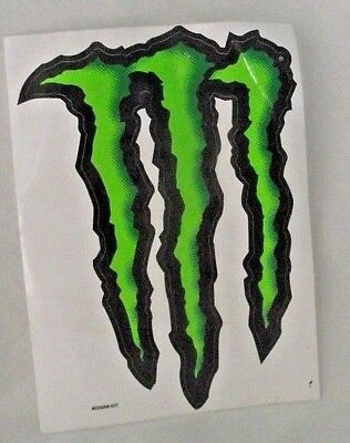 Monster Energy Drink Decal Sticker Black Green 8.5 x 6 Logo Advertising