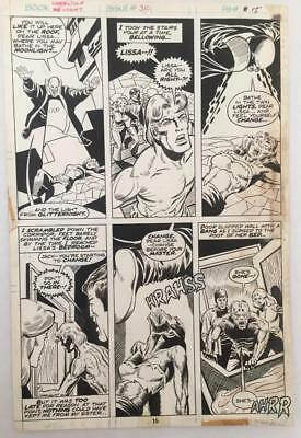 Werewolf By Night #30 Marvel 1975 (Original Art) Pg 15 Don Perlin