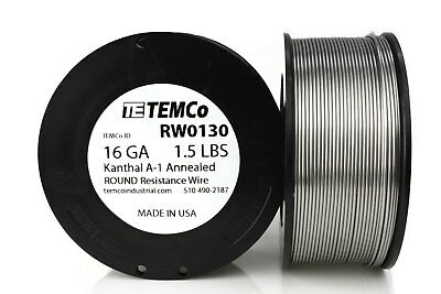 TEMCo Kanthal A1 wire 16 Gauge 1.5 lb (159 ft) Resistance AWG A-1 ga