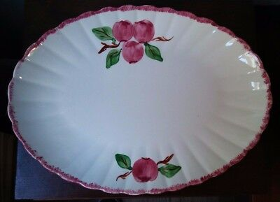 """Blue Ridge - Southern Pottery - Red Apple - Large Serving Platter - 15 1/4"""""""