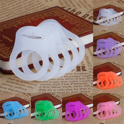 5Pcs Silicone Button Baby Dummy Pacifier Holder Adapter Clip for MAM Rings
