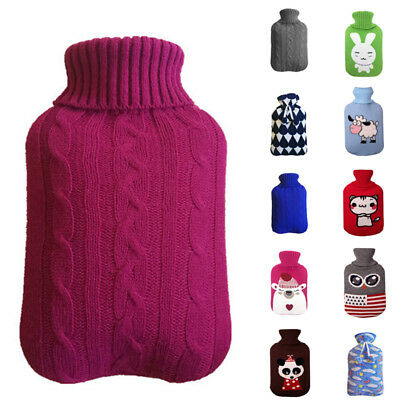 2L 20*31cm Winter Knitted Hot Water Bag Bottle Cover Case Heat Warm Keeping Anti