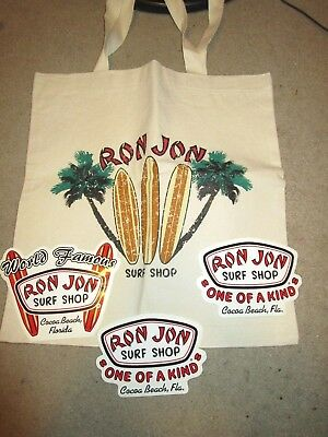 Ron Jon Surf Shop Bag Lot Stickers Cocoa Beach Florida