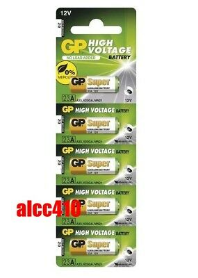 5x GP 23A A23 MN21 23GA 23AE 12V Ultra Car Garage Single Use Alkaline Battery