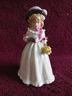 "Royal Doulton Figurine-Sharon-HN 3047-5.5""-Copr 1983-Made in England-Excellent"