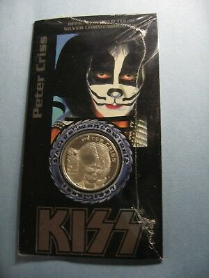 Peter Criss Kiss Alive Worldwide Tour 1996-1997 Mint Sealed 999 Silver Coin Pc1