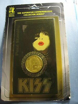 Paul Stanley Kiss Alive Worldwide Tour 1996-1997 Card Sealed 999 Silver Coin Ps1