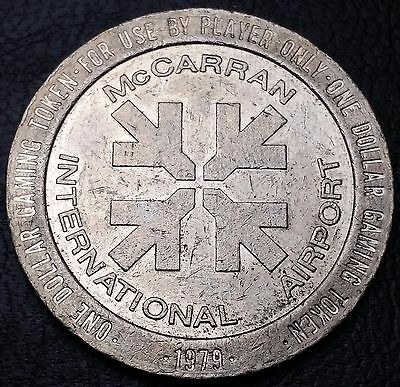 1979 McCarran Airport Casino $1 Dollar Gaming Token Chip - FREE COMBINED S/H