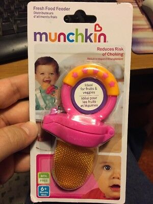 Munchkin Fresh Food Feeder 1 Pack - Pink And Orange With Free Shipping