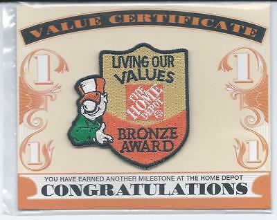 LMH PATCH Badge  HOME DEPOT Uniform BRONZE AWARD  Living Our Values Fund Charity