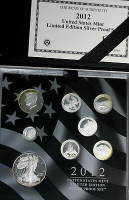2012 US Limited Edition Silver Proof Set - Key Date - Rare GEM FDC Coins +COA